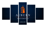 HD Printed AU - Auburn University Logo 5 Pieces Canvas