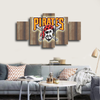HD Printed Pittsburgh Pirates Logo 5 Pieces Canvas