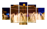 HD Printed Bellagio Hotel in Las Vegas 5 Pieces Canvas