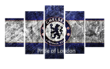 HD Printed Chelsea Football Club 5 Pieces Canvas
