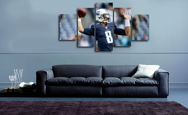 HD Printed Marcus Mariota - Tennessee Titans 5 Pieces Canvas