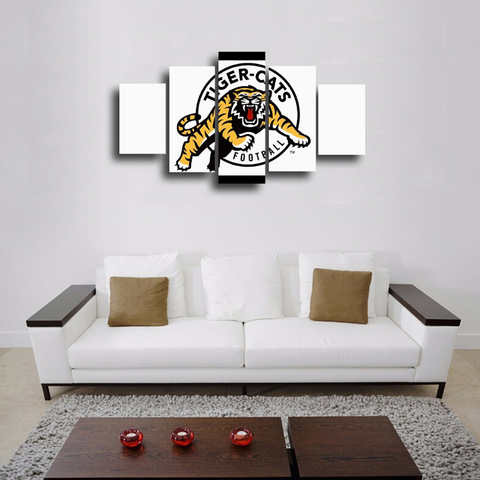 HD Printed Hamilton Tiger Cats New Logo 5 Pieces Canvas