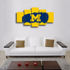 HD Printed Michigan Wolverine  Logo 5 Pieces Canvas