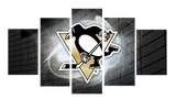 HD Printed Pittsburgh Penguin Logo 5 Pieces Canvas