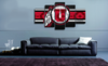 HD Printed Utah Utes Logo 5 Pieces Canvas