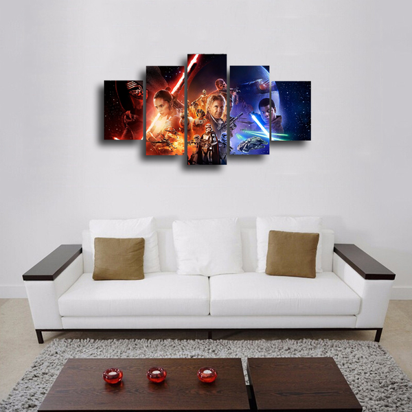 HD Printed Star Wars 5 Piece Canvas