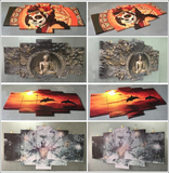 HD Printed Naruto Shippuden Bijuu Mode 5 Pieces Canvas