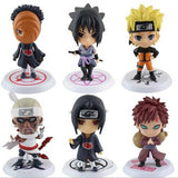 6 PCS / Set Naruto Action Figure Doll High Quality Sasuke Gaara Shikamaru Kakashi Sakura Naruto Anime Toys Collection for Boys