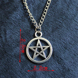alloy statement Pendant Necklace Pentacle brandy Supernature movie collection metal Unisex Pentagram colares femininos jewelry
