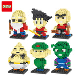 10 Style Dragon Ball Z Toy Building Block Action Figures Son Goku Piccolo Vegeta Frieza Anime Toy Oolong Master Roshi Karrin
