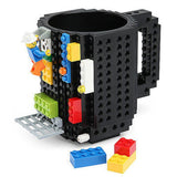 Fashion 1Piece Build-On Brick Mug Lego Type Building Blocks Coffee Cup DIY Block Puzzle Mug Drink Cup12oz