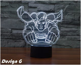 The Avengers Super Hero Iron Man Mask Lamp 3D LED Night Light Captain America Model Kids Bedroom Decor Table Lamp Child Gift