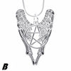 Supernatural Necklace Bijouterie Suspension Pentagram Pendant For Lover Castiel Wings Angel Wicca Jewelry Navidad XMAS 5-10