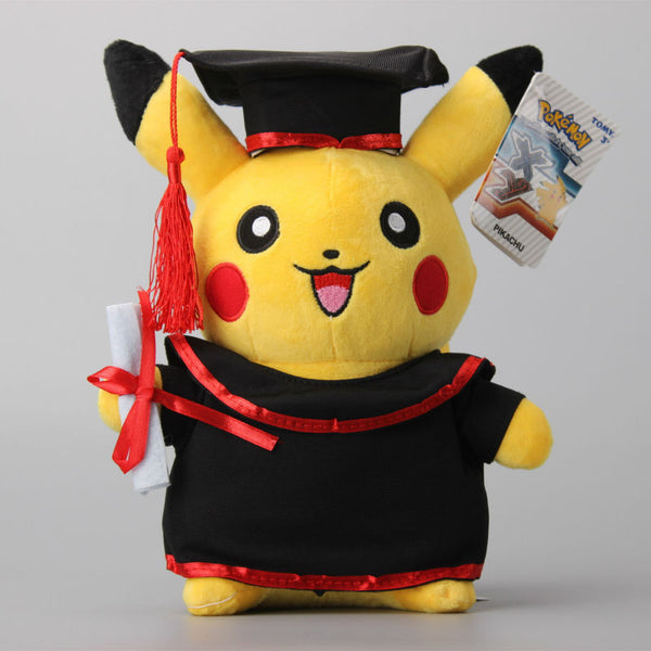 NEW Pokemon Pikachu Cosplay Stuffed Dolls Cute Graduate Fitting Gift Plush Toys 11