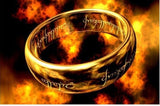 One Ring of power Gold Silver Black the Lord of rings women finger wedding band fashion jewelry accessory