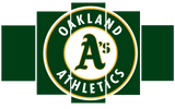 HD Printed Oakland Athletics Baseball Logo 5 Pieces Canvas