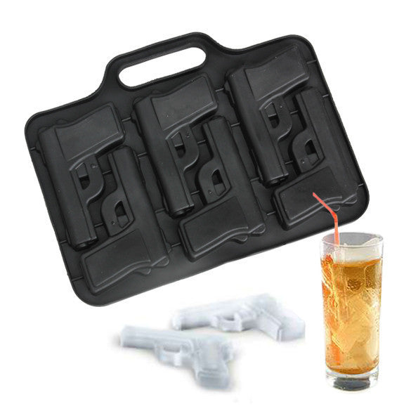 Party Drink Ice Tray Cool Pistol Gun Ice Cube Style Ice Mold