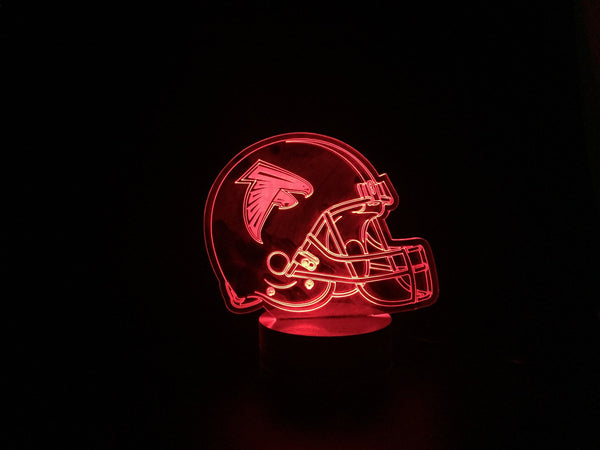 3D Atlanta Falcons Led Desk Lamp Flash Changing Colour