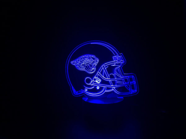 3D Jacksonville Jaguars Led Desk Lamp Flash Changing Colour