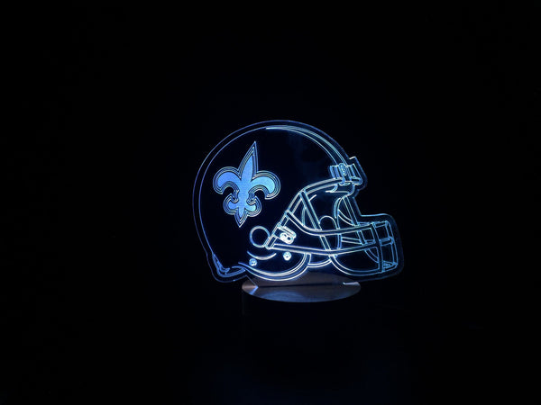 3D New Orleans Saints Led Desk Lamp Flash Changing Colour