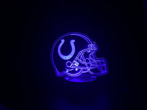3D Indianapolis Colts Led Desk Lamp Flash Changing Colour