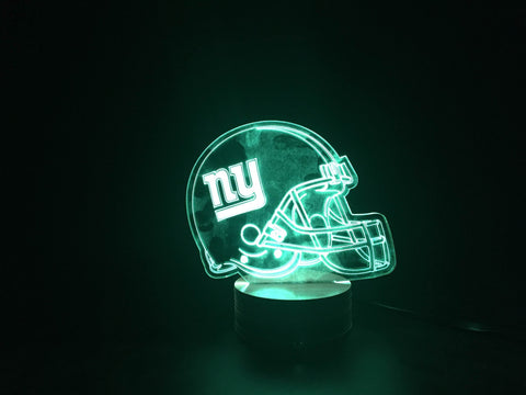 3D New York Giants Led Desk Lamp Flash Changing Colour