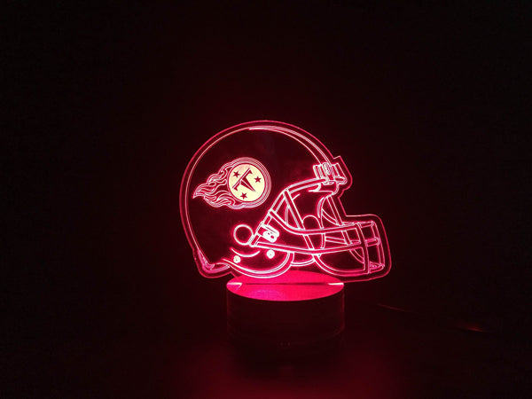 3D Tennessee Titans Led Desk Lamp Flash Changing Colour