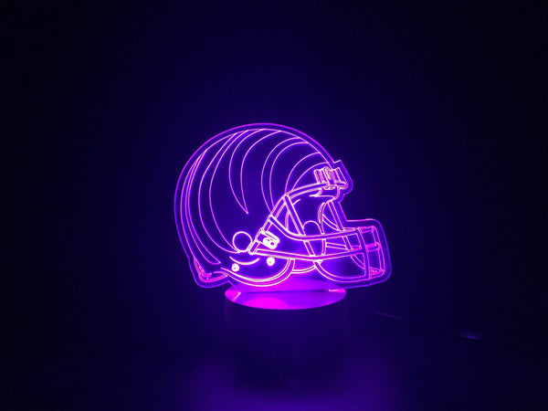 3D Cincinnati Bengals Led Desk Lamp Flash Changing Colour