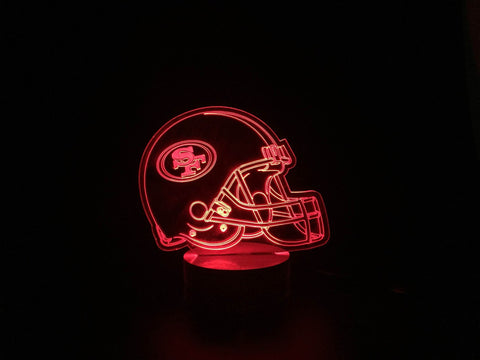 3D San Francisco 49ers Led Desk Lamp Flash Changing Colour