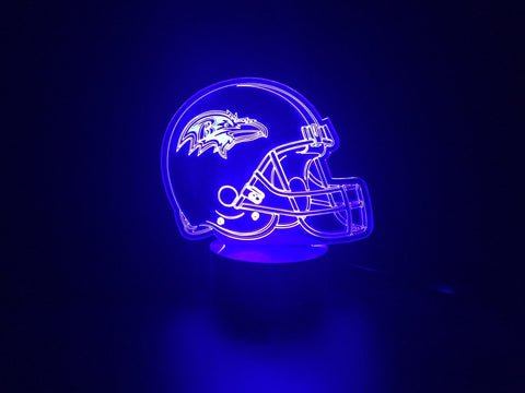 3D Baltimore Ravens Led Desk Lamp Flash Changing Colour