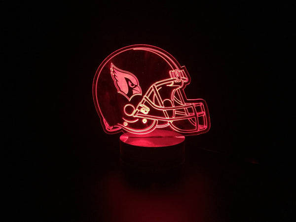 3D Arizona Cardinals Led Desk Lamp Flash Changing Colour