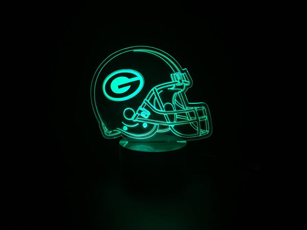 3D Green Bay Packers Led Desk Lamp Flash Changing Colour