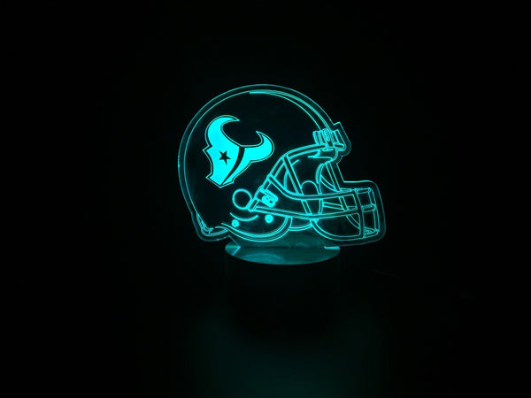 3D Houston Texans Led Desk Lamp Flash Changing Colour