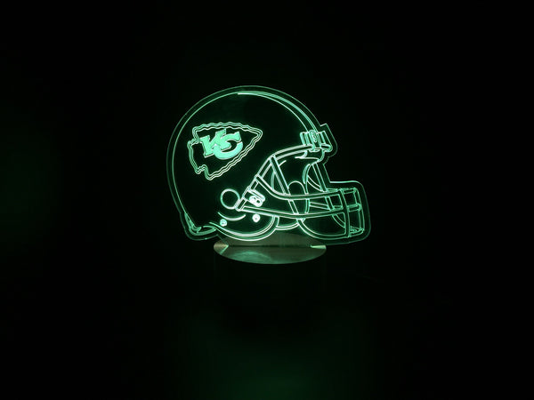 3D Kansas City Chiefs Led Desk Lamp Flash Changing Colour