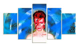 HD Printed David Bowie 5 Pieces Canvas B