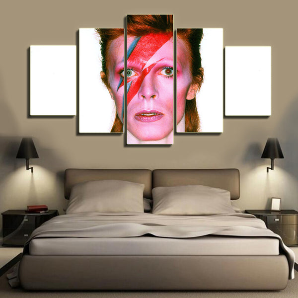 HD Printed David Bowie 5 Pieces Canvas C