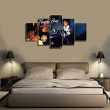 HD Printed Purple Rain 5 Pieces Canvas A