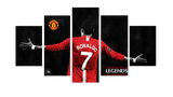 HD Printed Cristiano Ronaldo 5 Pieces Canvas B