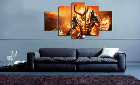 HD Printed Dota 5 Pieces Canvas