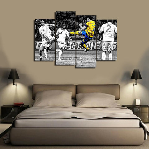 HD Printed Zlatan Ibrahimovic 5 Pieces Canvas B