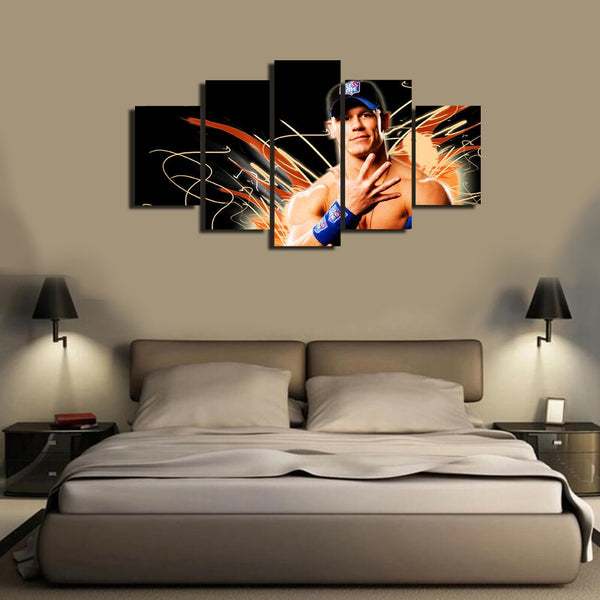 HD Printed John Cena 5 Pieces Canvas B