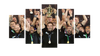 HD Printed New Zealand Champion of World Cup Rugby 2015 5 Pieces Canvas