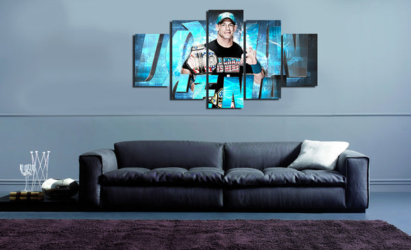 HD Printed John Cena 5 Pieces Canvas C