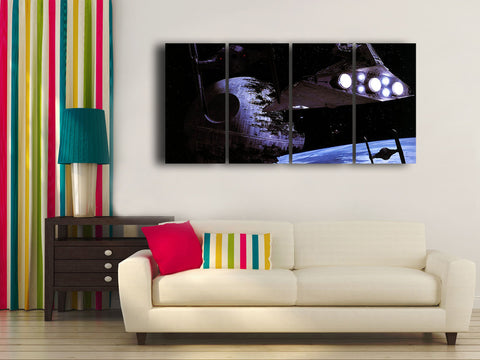 HD Printed Star Citizen 4 Pieces Canvas A