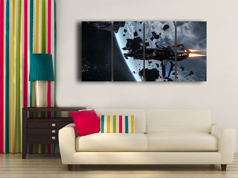 HD Printed Star Citizen 4 Pieces Canvas B