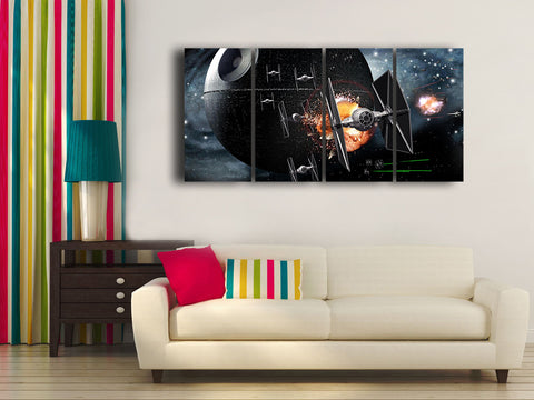 HD Printed Star Citizen 4 Pieces Canvas D