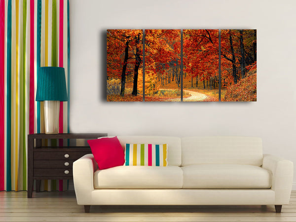 HD Printed Autumn - Landscape 4 Pieces Canvas G