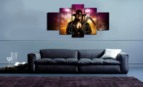 HD Printed The Undertaker 5 Pieces Canvas B