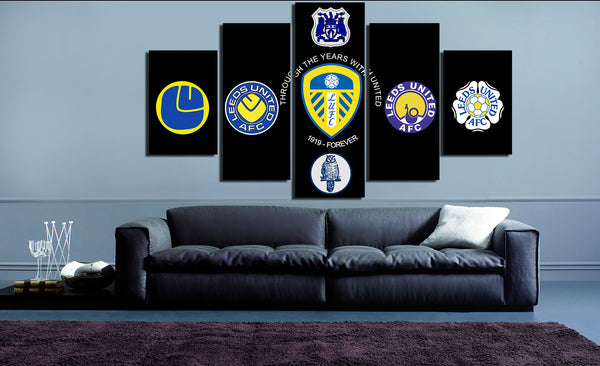 HD Printed Leeds United 5 Pieces Canvas