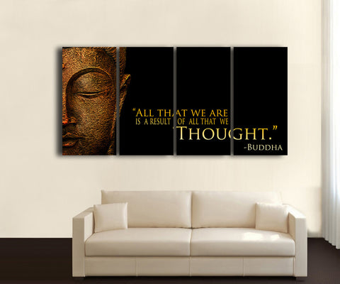 HD Printed Buddha - Religion 4 Pieces Canvas C